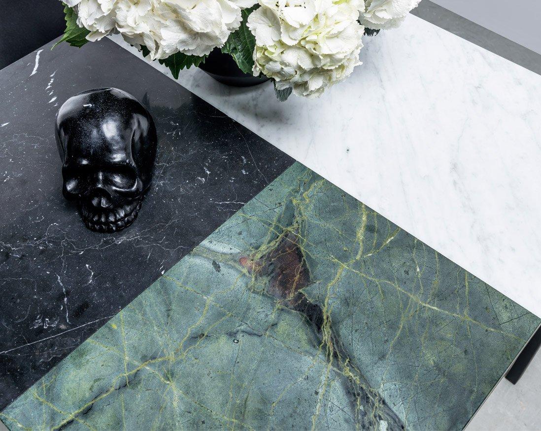 Stół z trzech połączonych marmurów. Stół Margaret od Hoom