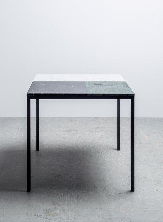 Kwadratowy stół z marmuru - stół margaret od Hoom