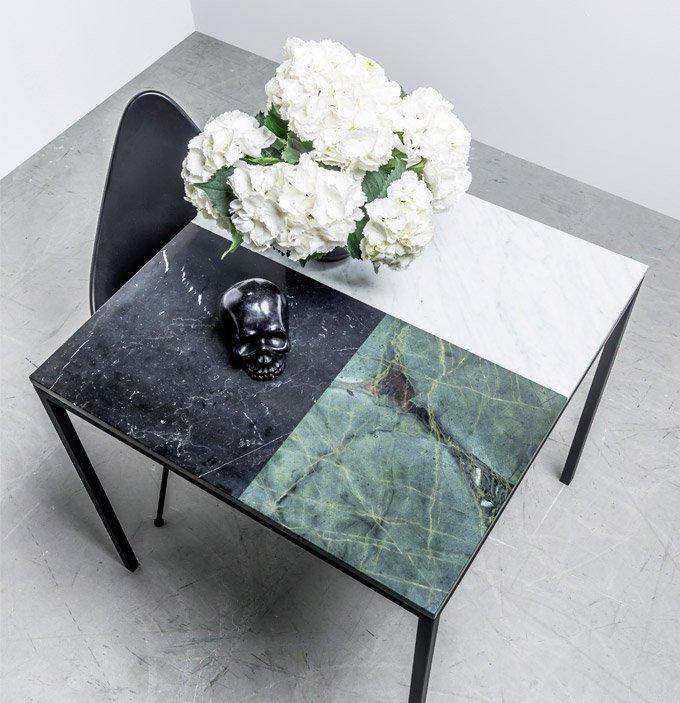 Stół z pięknym marmurowym blatem do domu - Stół margaret od Hoom