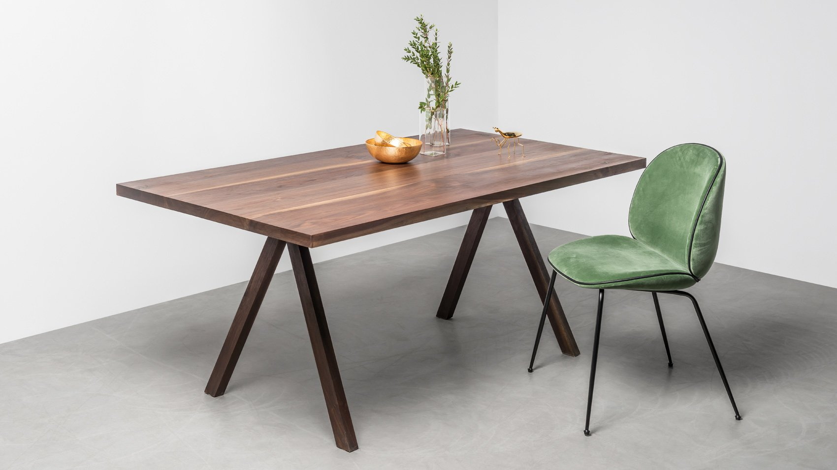 Elegant Table Made Of American Walnut Victoria Table From Hoom