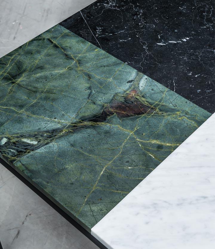 Stół z marmuru w trzech kolorach. Od Hoom