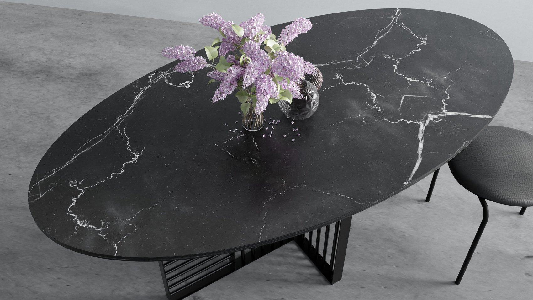 Oval marble dining table - William Table From Hoom