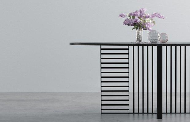 Nowoczesny stół z marmurowym blatem nero marquina - Stół William od Hoom