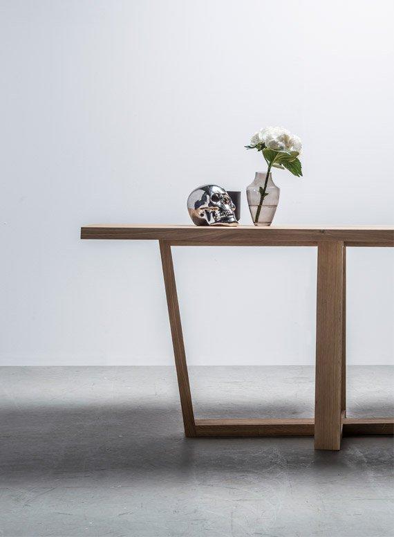Skandynawski stół do jadalni z drewna dębowego - Stół Diamond od Hoom