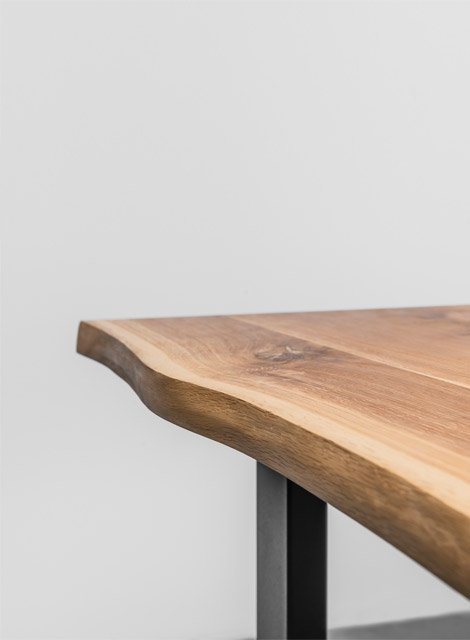 Krawędź stołu z litego drewna dębowego - Stół Pablo od Hoom