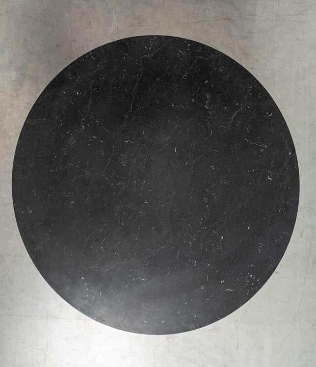 czarny okrągły marmurowy blat nero marquina - Stół Moon od Hoom