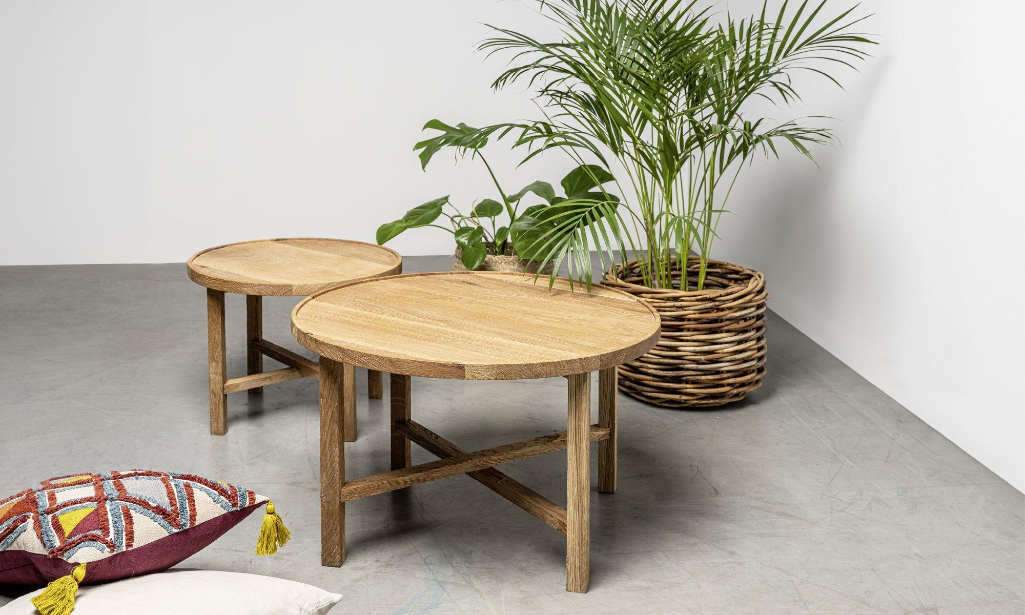 stoliki kawowe z litego drewna od hoom w stylu boho