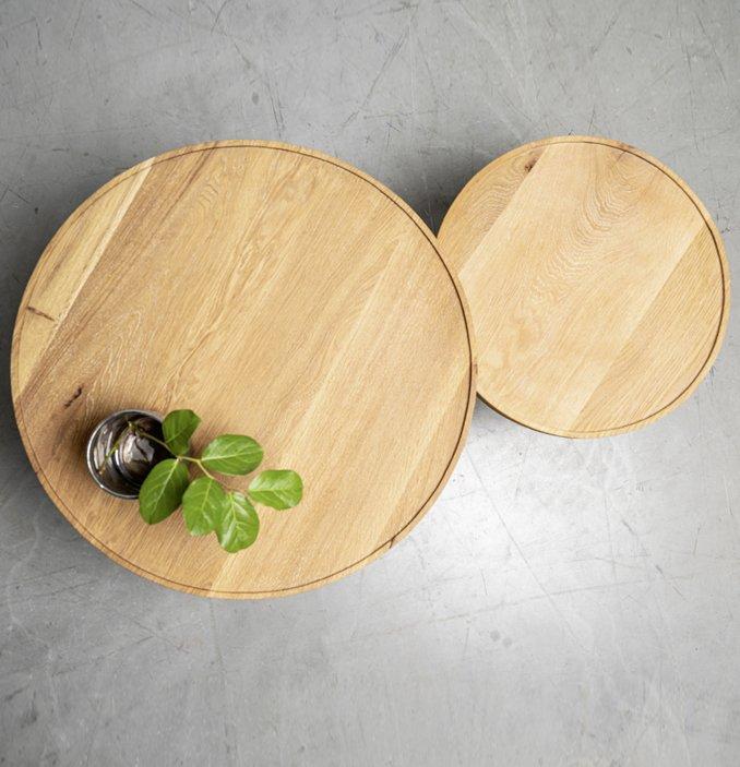 widok stolika kawowego od gory
